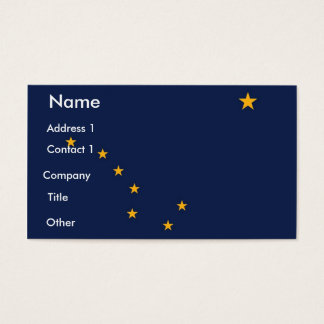 Business Card with Flag of Alaska U.S.A.