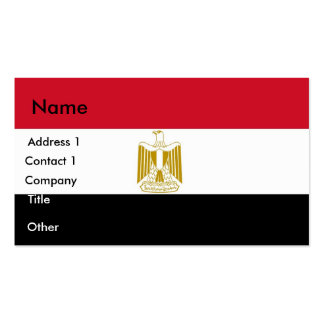 Business Card with Flag of Egypt