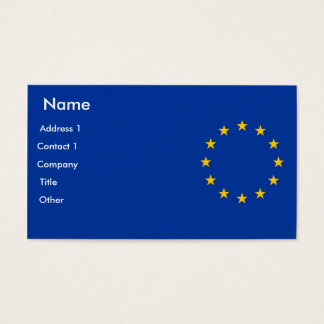 Business Card with Flag of European Union