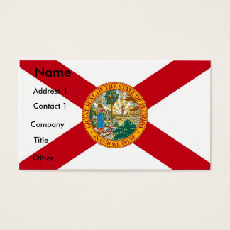 Business Card with Flag of Florida, U.S.A.