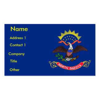 Business Card with Flag of North Dakota U.S.A.