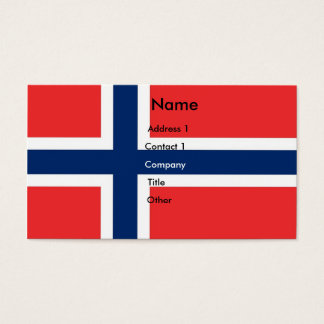Business Card with Flag of Norway
