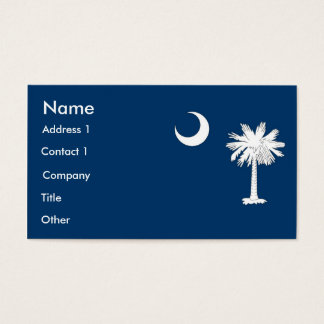 Business Card with Flag of South Carolina U.S.A.