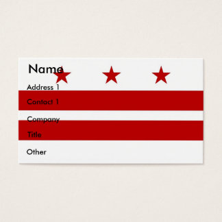 Business Card with Flag of Washington DC U.S.A.