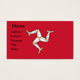 Business Card with Isle of Man Flag, U.K.