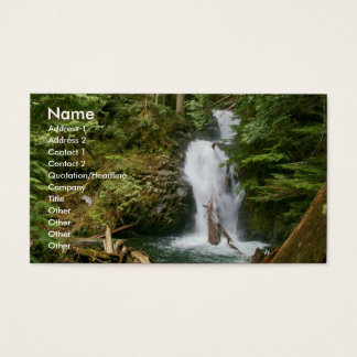 Business card with waterfall backg... - Customized