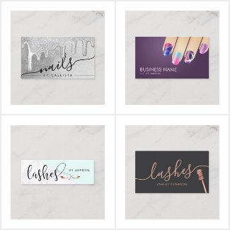Business Cards for salons and spas