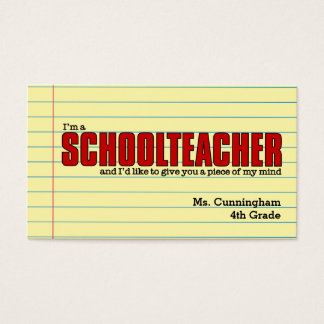 Business Cards for the Schoolteacher Humorous