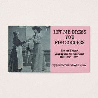 BUSINESS CARDS FOR WARDROBE CONSULTANT CHRISTIAN