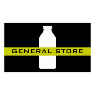 business cards > general store [lime : black]