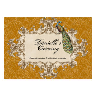 Business Cards - Gold Vintage Peacock & Etchings