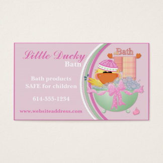 Business Cards : Little Ducky Bath Children Design