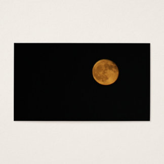 Business Cards - PHOTOGRAPH OF HARVEST MOON