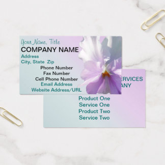 Business Cards - Ruffled Pink Pansy