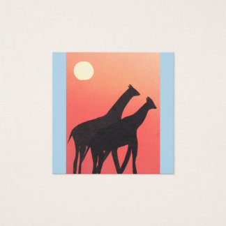 Business Cards with Giraffe Design
