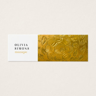 Business Cards with golden metal print