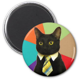 Business Cat 2 Inch Round Magnet