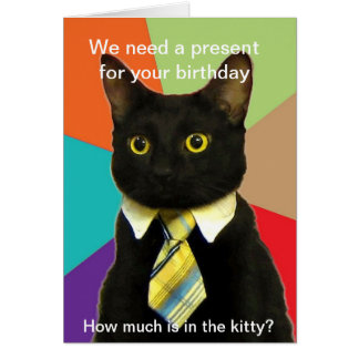 Business Cat birthday card