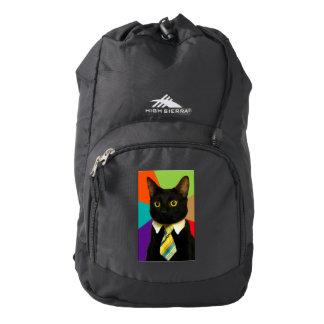 business cat - black cat backpack