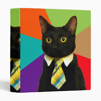 business cat - black cat binder