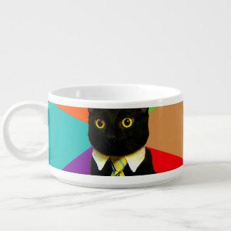 business cat - black cat bowl
