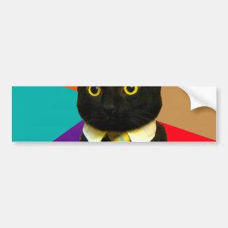 business cat - black cat bumper sticker