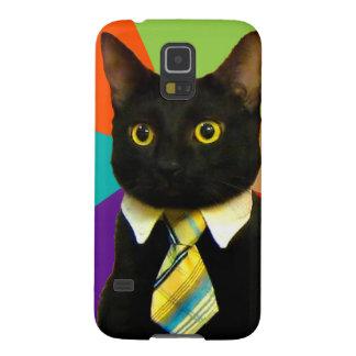 business cat - black cat galaxy s5 case