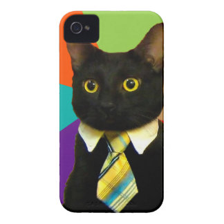 business cat - black cat iPhone 4 covers