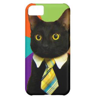 business cat - black cat iPhone 5C cases