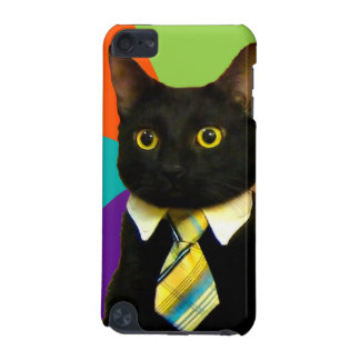 business cat - black cat iPod touch (5th generation) covers