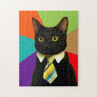 business cat - black cat jigsaw puzzle