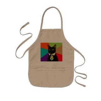 business cat - black cat kids apron