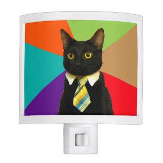 business cat - black cat nite light