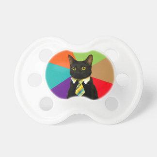 business cat - black cat pacifier