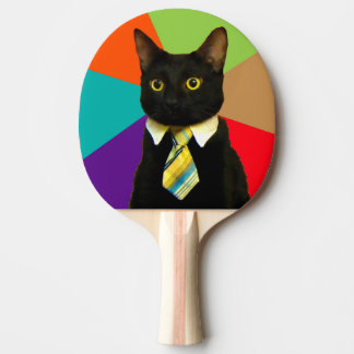 business cat - black cat ping pong paddle