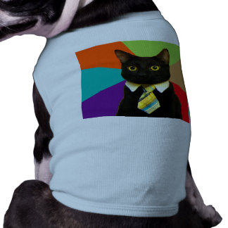 business cat - black cat shirt