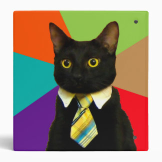 business cat - black cat vinyl binder