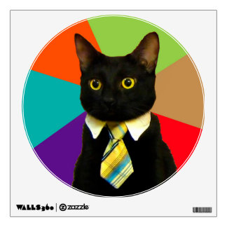 business cat - black cat wall decal