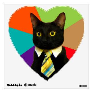 business cat - black cat wall sticker