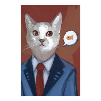 Business Cat Stationery Design