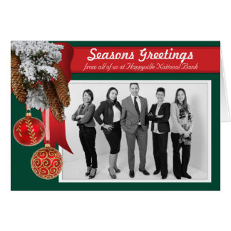 Business Christmas Holiday Photo Card