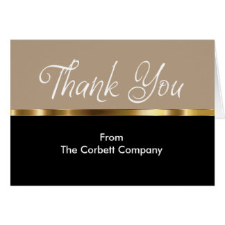 Business Classy Thank You Cards