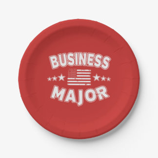 Business College Major Patriotic American Flag Paper Plate