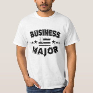 Business College Major Patriotic American Flag T-Shirt