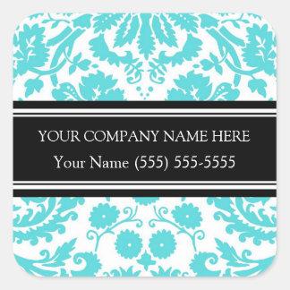 Business Custom Company Name Stickers Aqua