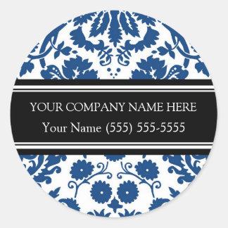 Business Custom Company Name Stickers Blue