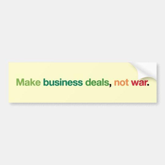 Business Deals Bumper Sticker