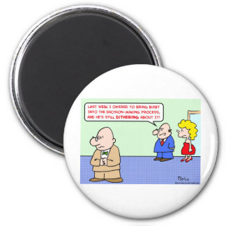 business decision dithering 2 inch round magnet