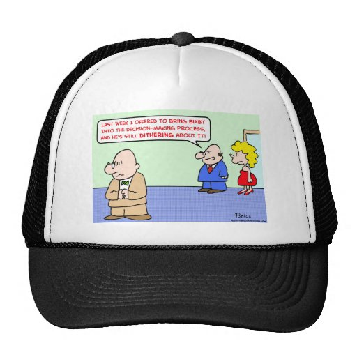 business decision dithering mesh hats