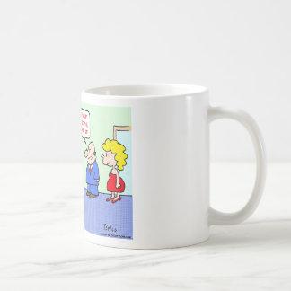 business decision dithering mug